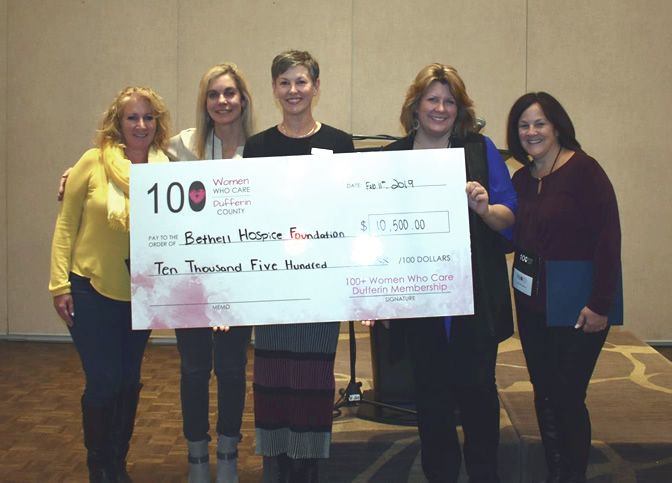 Congratulations to Bethell Hospice- Receives over $10K