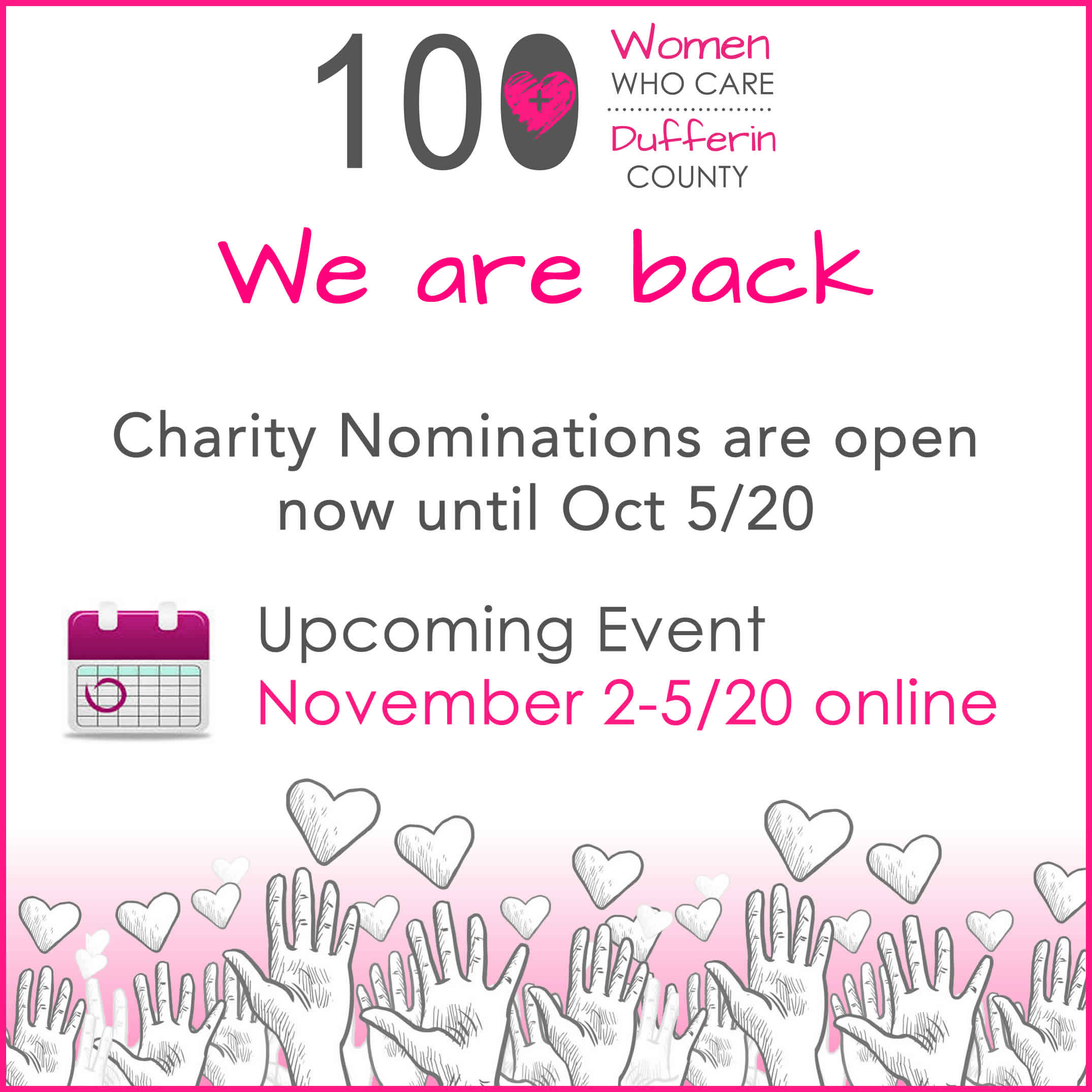 charity nominations are open